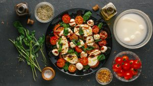 Tomato Caprese Salad with California Balsamic Vinegar Recipe
