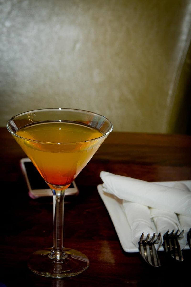 cold caramel apple martini