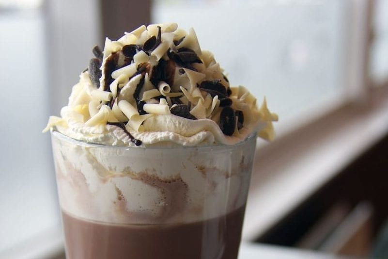 sweet caramel hot chocolate