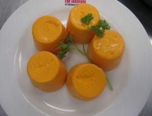 Carrot and Cheese Timbales with Red Pepper Sauce Recipe