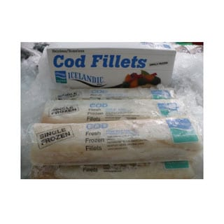 Wild Caught Icelandic Cod, Frozen Cello Pak5