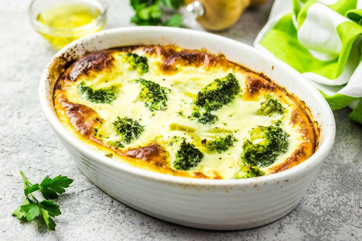 Cheesy Egg White And Broccoli Quiche Recipe