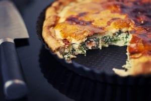 Cheesy Broccoli and Tomato Pie Recipe
