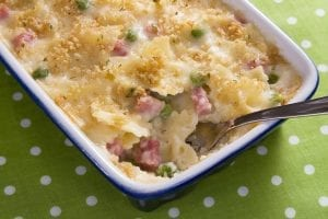 Cheesy Ham & Noodle Casserole Recipe