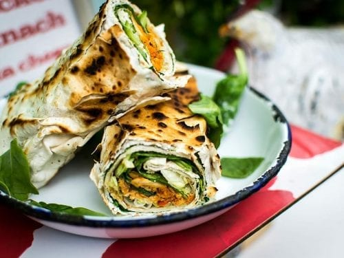 cheesy spinach roll ups