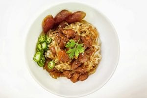 Chicken and Brown Gravy Over Egg Noodles Recipe