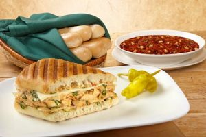Three Cheese BBQ Chicken Panini