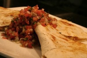 Chicken Quesadillas with Grilled Pear Salsa Recipe