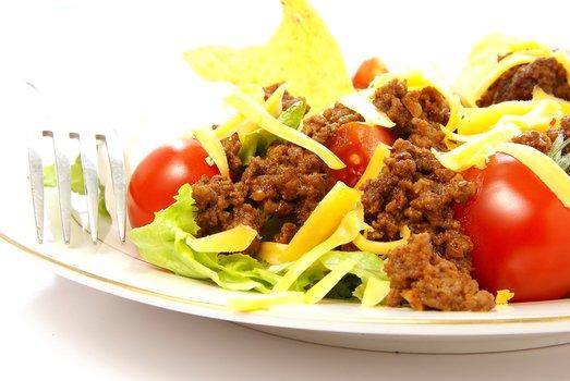 healthy chicken taco salad
