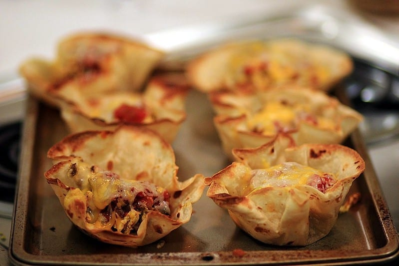 Chicken Tortilla Cups Recipe