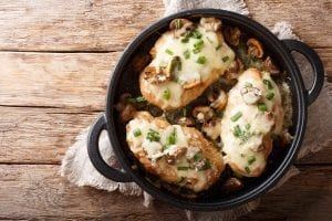 Chicken with Mushrooms and Muenster Cheese Recipe