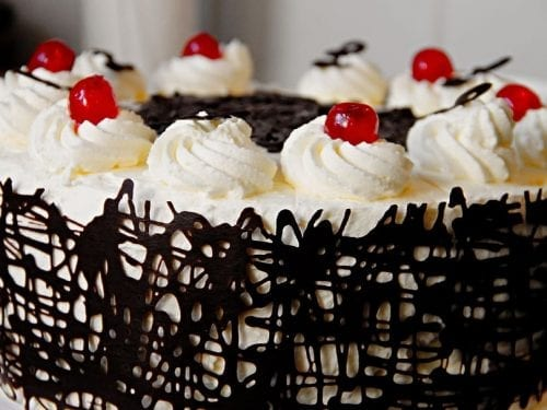 sweet chocolate cherry cake