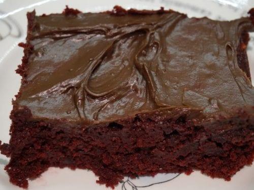 sweet chocolate depression cake