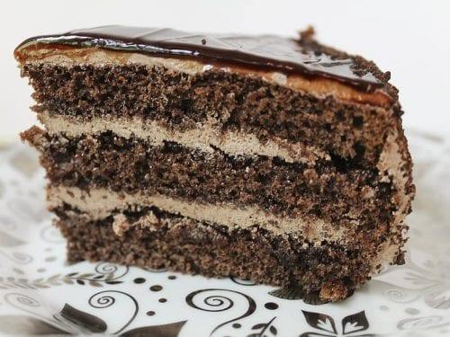 sweet chocolate mousse cake