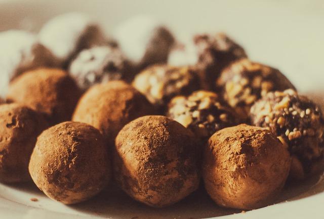 sweet chocolate truffles