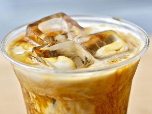 cinnamon-caramel iced coffee