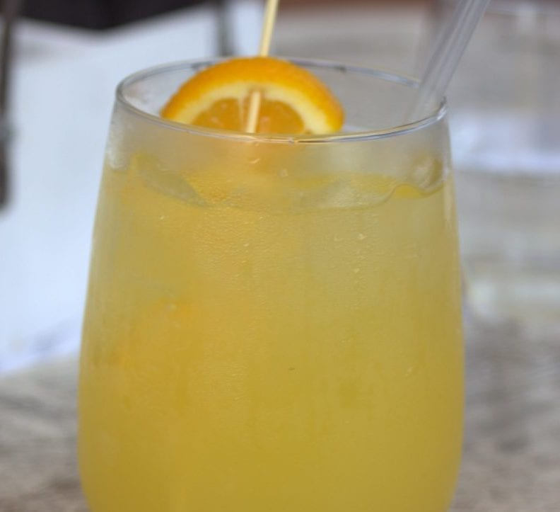 citrus punch with sherbet