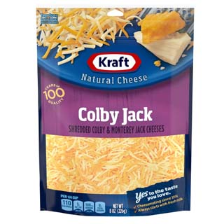 Kraft Natural Shredded Colby & Monterey Jack Cheese Blend