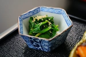 Cold Spinach and Sesame Seeds Recipe