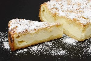 Copycat Cheesecake Factory-Inspired Cheesecake Topped With Graham Cracker Crumbs Recipe