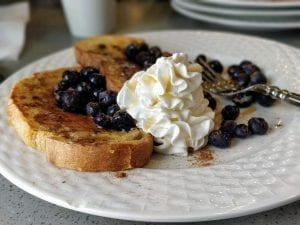 Copycat Cracker Barrel French Toast with Blueberries Recipe