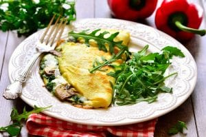 Copycat IHOP's Spinach And Mushroom Omelet Recipe