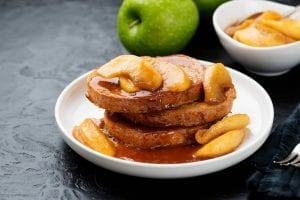 Copycat Stephanie Izard's Bread Pudding with Fresh Ricotta, Apples and Salted Caramel Recipe