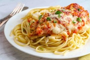 Copycat TGIFriday's Bruschetta Chicken Pasta Recipe