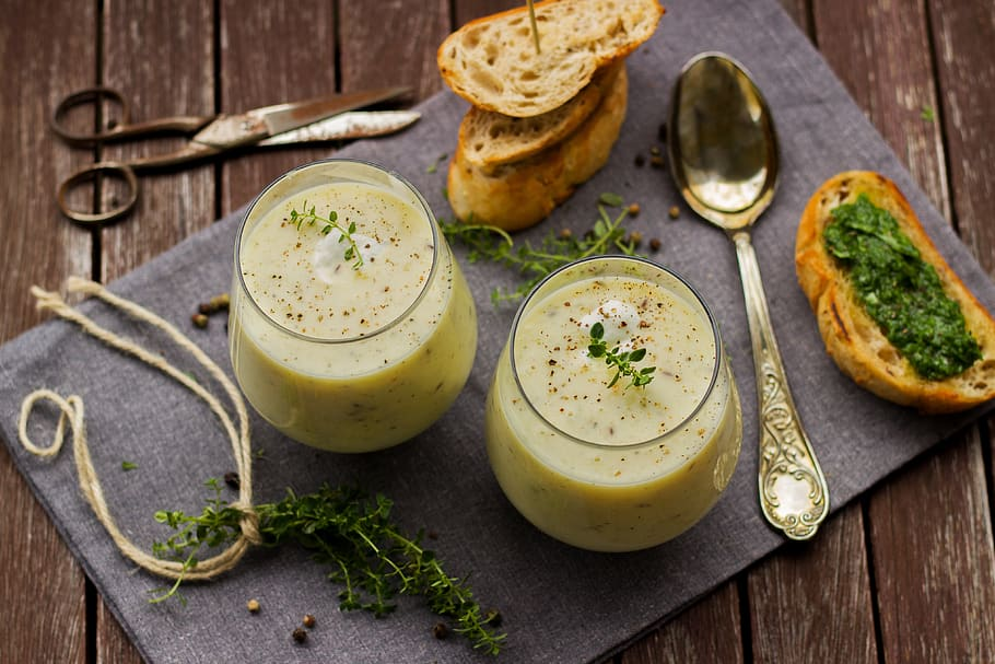 creamy dilled parsnip and leek soup