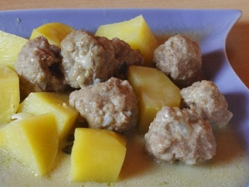 creamy meatball potato