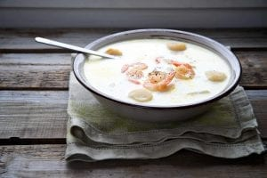 Creamy Slow-Cooked Shrimp And Scallop Soup Recipe