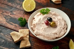 Creamy Watermelon Dip and Cinnamon-Sugar Pita Chips Recipe