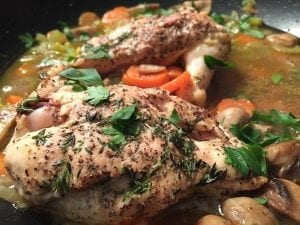 Creamy White Wine And Mushroom Smothered Chicken Recipe