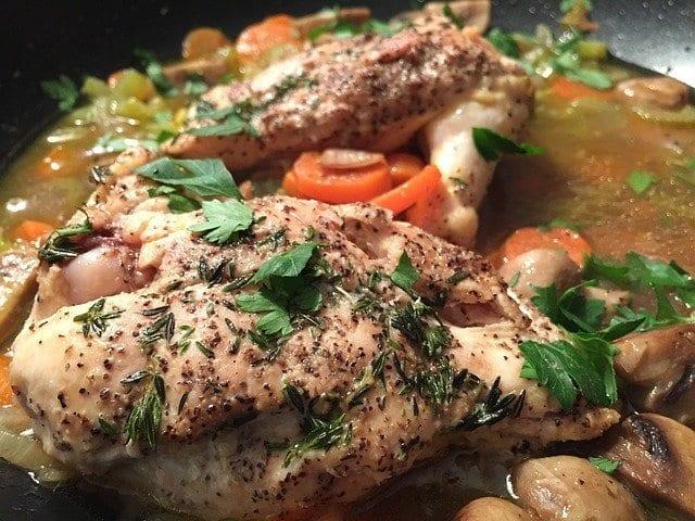 Creamy White Wine And Mushroom Smothered Chicken Recipe