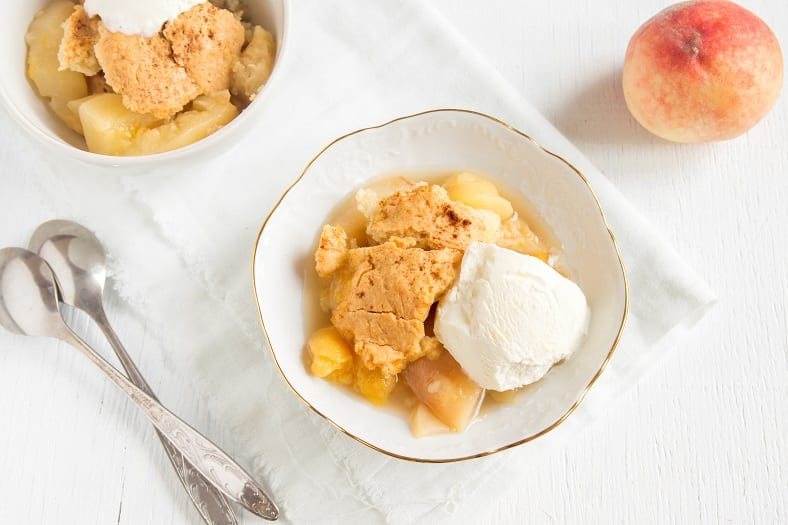 Crock Pot Peach Cobbler Recipe