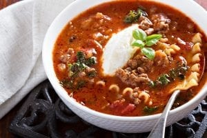 Crockpot Beef Lasagna Soup Recipe