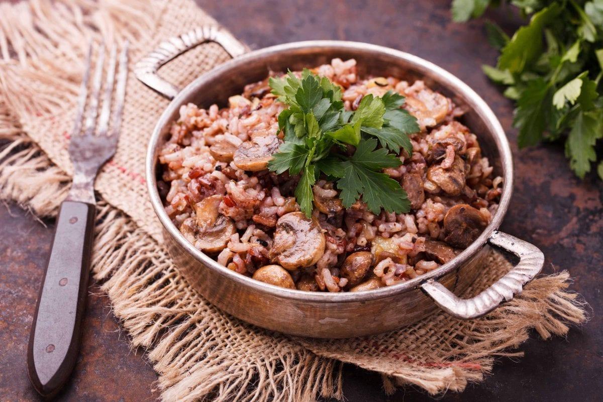 Cream of Mushroom Rice Casserole