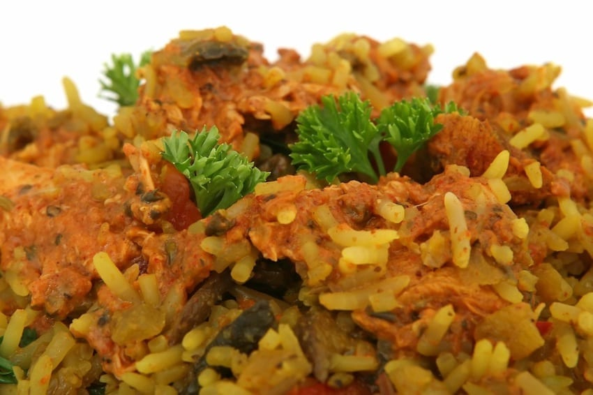 Curried Rice Salad with Melon, Raisins and Peanuts Recipe