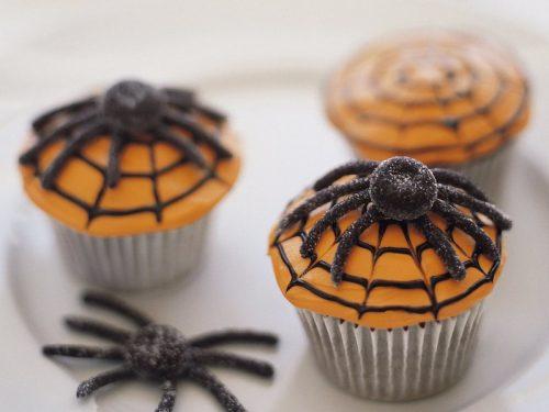 devils food spider cupcakes