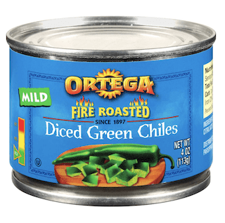 Ortega Fire Roasted Diced Green Chilis