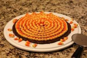 Candy Corn Brownie Pizza Recipe
