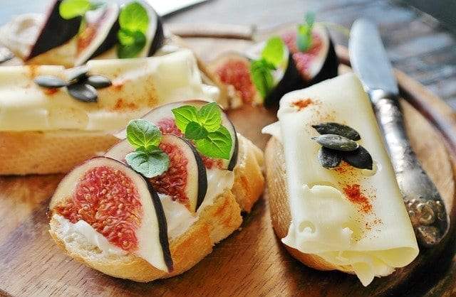 French Baguette with Ricotta, Prosciutto and Marsala Figs Recipe