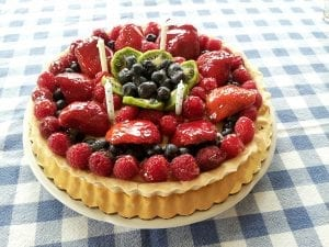 Fruit Tart With Pudding Recipe