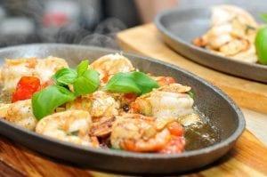 Garlicky Shrimp and Olives Recipe