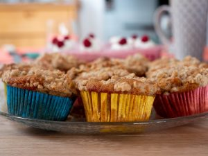 Glazed Strawberry Lemon Streusel Muffins Recipe