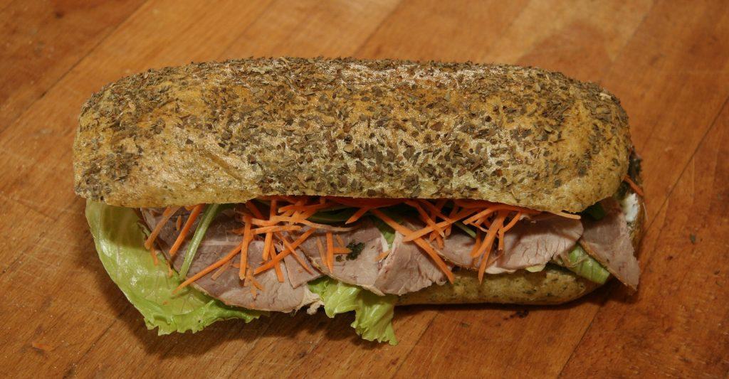 Greek Sandwich with Feta Vinaigrette Recipe