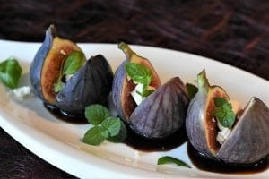 Honey Roasted Figs with Ricotta and Orange Sauce Recipe