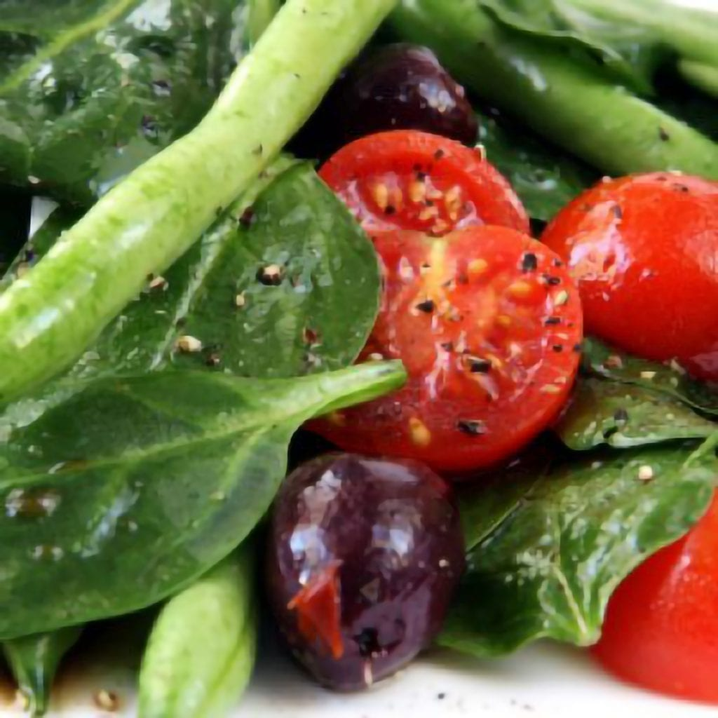Green Bean and Spinach Salad Recipe
