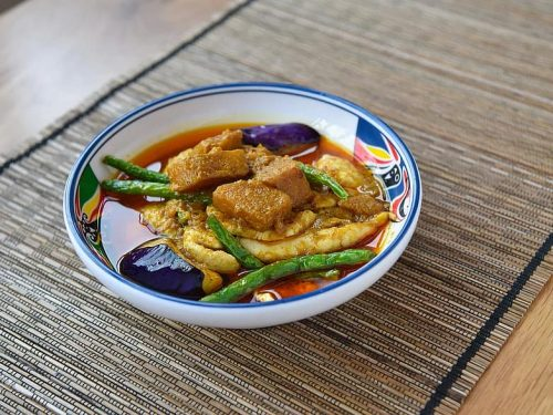 healthy green beans with curry