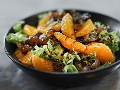 greens and mandarin orange salad